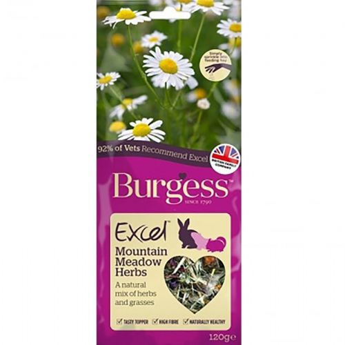 Burgess Excel  - Nature Snack Mountain Meadow Herbs 120gm